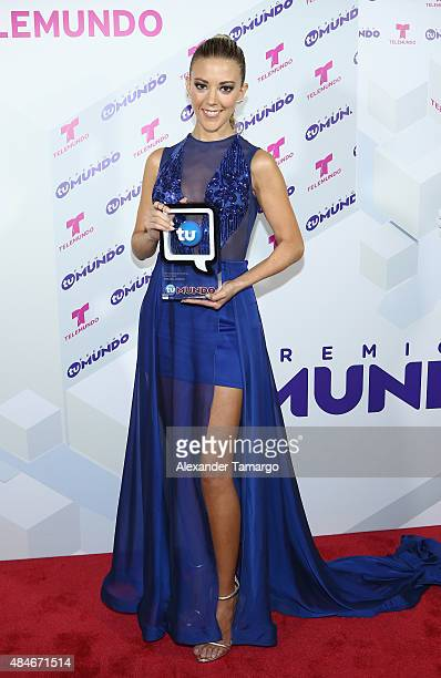 Fernanda Castillo attends Telemundo's 'Premios Tu Mundo Awards' 2015 at American Airlines Arena on August 20 2015 in Miami Florida