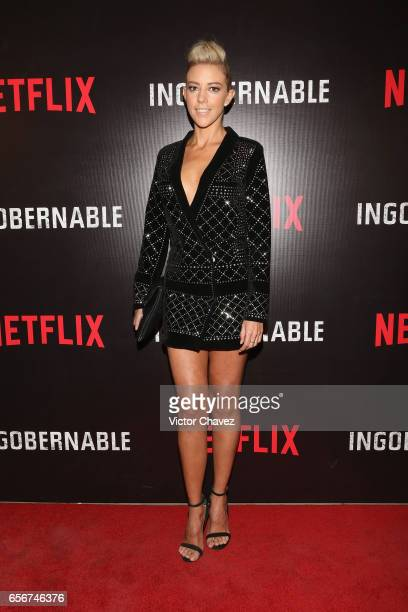Fernanda Castillo attends the launch of Netflix's series 'Ingobernable' red carpet at Auditorio BlackBerry on March 22 2017 in Mexico City Mexico
