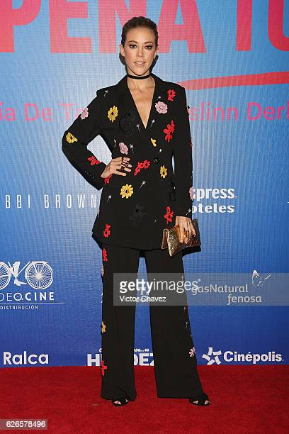 Fernanda Castillo attends the 'Que Pena Tu Vida' Mexico City Premiere at Cinepolis Oasis Coyoacan on November 29 2016 in Mexico City Mexico