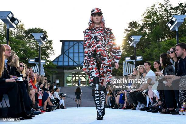 Fernanda Ly showcases the design on runway during the Louis Vuitton Resort 2018 show at the Miho Museum on May 14 2017 in Koka Japan