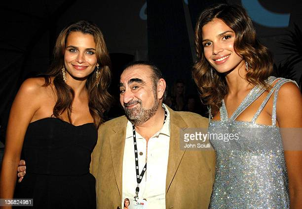 Fernanda Motta Ken Davitian and Raica Oliveira during 2007 Sports Illustrated Swimsuit Issue Party Inside at Pacific Design Center in Los Angeles...