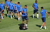 Fernandao of Fenerbahce attends a training session prior to UEFA Champions League third preliminary lap match between Fenerbahce and Monaco at Can...