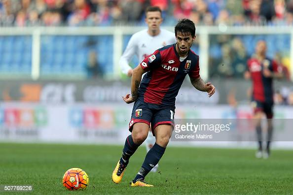 Fernandez Suso of Genoa CFC in action during the Serie A match between Genoa CFC and ACF Fiorentina at Stadio Luigi Ferraris on January 31 2016 in...