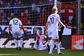 Fernandez Suso of Genoa scores the opening goal during the Serie A match between Genoa CFC and US Citta di Palermo at Stadio Luigi Ferraris on...
