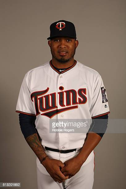 Fernando Abad of the Minnesota Twins poses during Photo Day on Tuesday March 1 2016 at Hammond Stadium in Fort Myers Florida