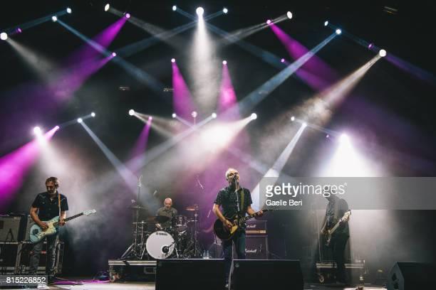 Fernando Alfaro Joaqun Pascual Carlos Cuevas and Jos Manuel Mora of Spanish Band Surfin' Bichos perform live on Day 3 of FIB Festival on July 15 2017...