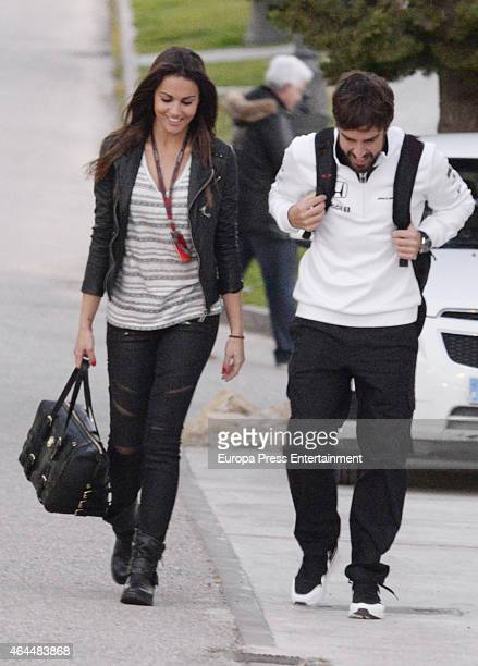 Fernando Alonso and his girfriend Lara Alvarez are seen on February 1 2015 in Jerez de la Frontera Spain