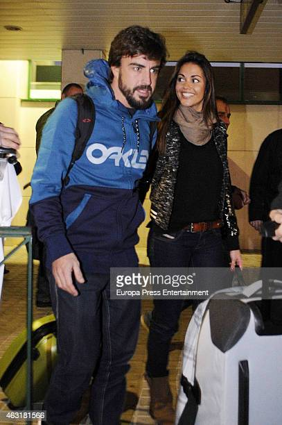 Fernando Alonso and Lara Alvarez are seen on January 31 2015 in Jerez de la Frontera Spain