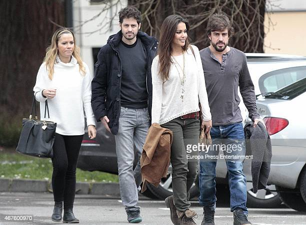 Fernando Alonso and Lara Alvarez are seen on March 01 2015 in Oviedo Spain
