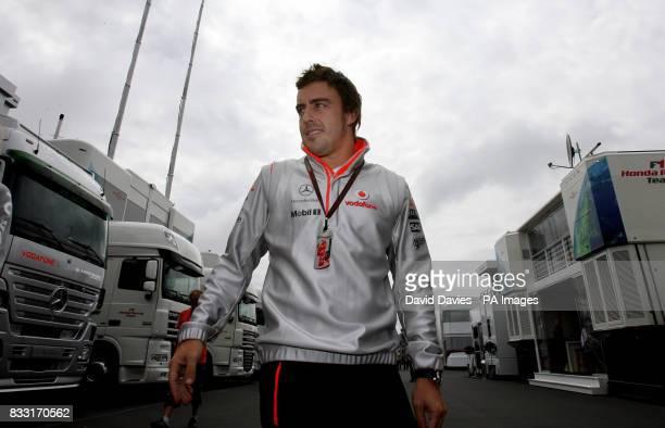 Fernando Alonso at the Nurburgring for the European Formula One Grand Prix at Nurburgring Germany