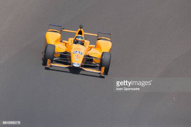 Fernando Alonso during the fourth day of practice for the 101st Indianapolis on May 18 at the Indianapolis Motor Speedway in Indianapolis IN