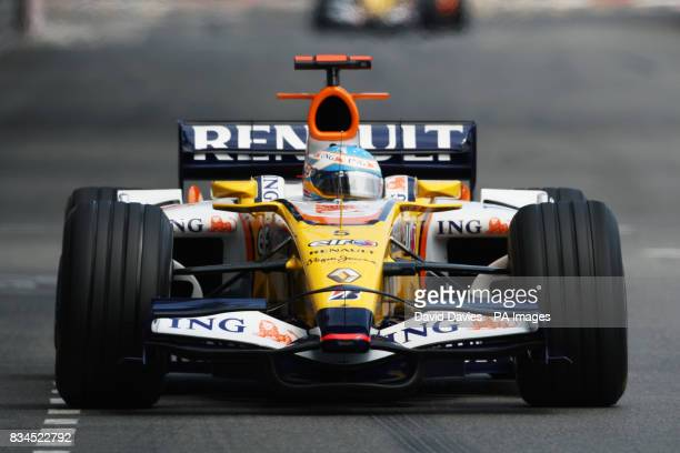 Fernando Alonso in the Renault during Qualifying in Monte Carlo Monaco