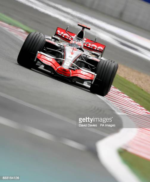 Fernando Alonso in the Vodafone McLaren Mercedes MP4/22 during the French Grand Prix at MagnyCours