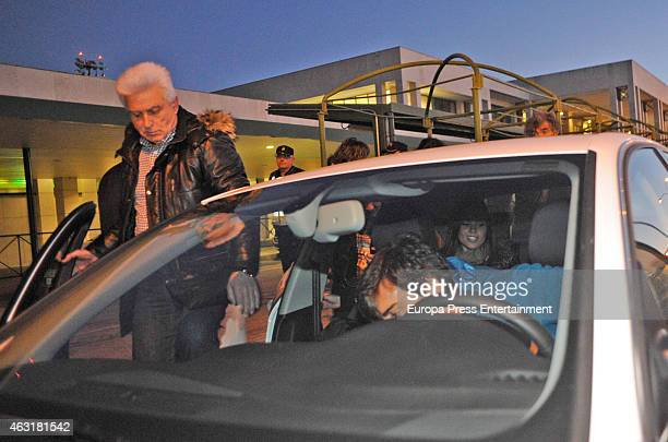Fernando Alonso Lara Alvarez and his father Jose Luis Diaz are seen on January 31 2015 in Jerez de la Frontera Spain