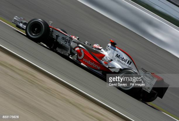 Fernando Alonso McLaren Mercedes during the European Formula One Grand Prix at the Nurburgring Germany