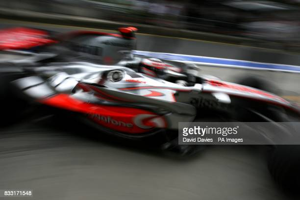 Fernando Alonso McLaren Mercedes during the practice session at the Nurburgring
