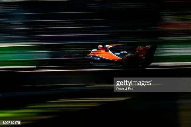 Fernando Alonso of McLaren and Spain during the Azerbaijan Formula One Grand Prix at Baku City Circuit on June 25 2017 in Baku Azerbaijan