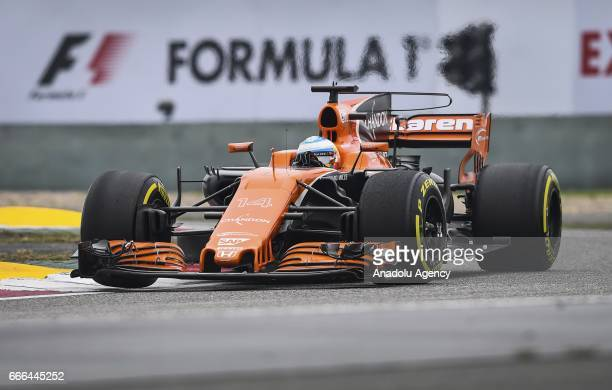 Fernando Alonso of McLaren Honda on track during the Formula One Grand Prix of China at Shanghai International Circuit on April 9 2017 in Shanghai...