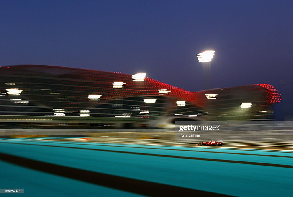 Fernando Alonso of Spain and Ferrari drives during practice for the Abu Dhabi Formula One Grand Prix at the Yas Marina Circuit on November 2, 2012 in Abu Dhabi, United Arab Emirates.