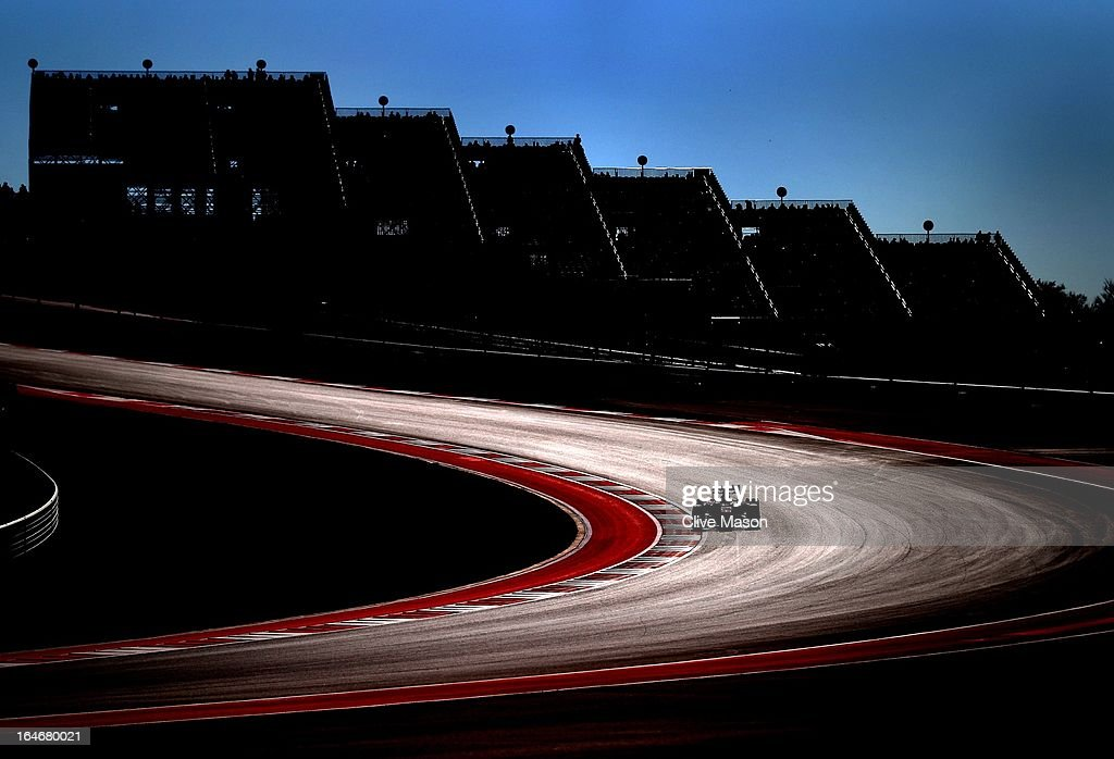 Fernando Alonso of Spain and Ferrari drives during practice for the United States Formula One Grand Prix at the Circuit of the Americas on November 16, 2012 in Austin, Texas.
