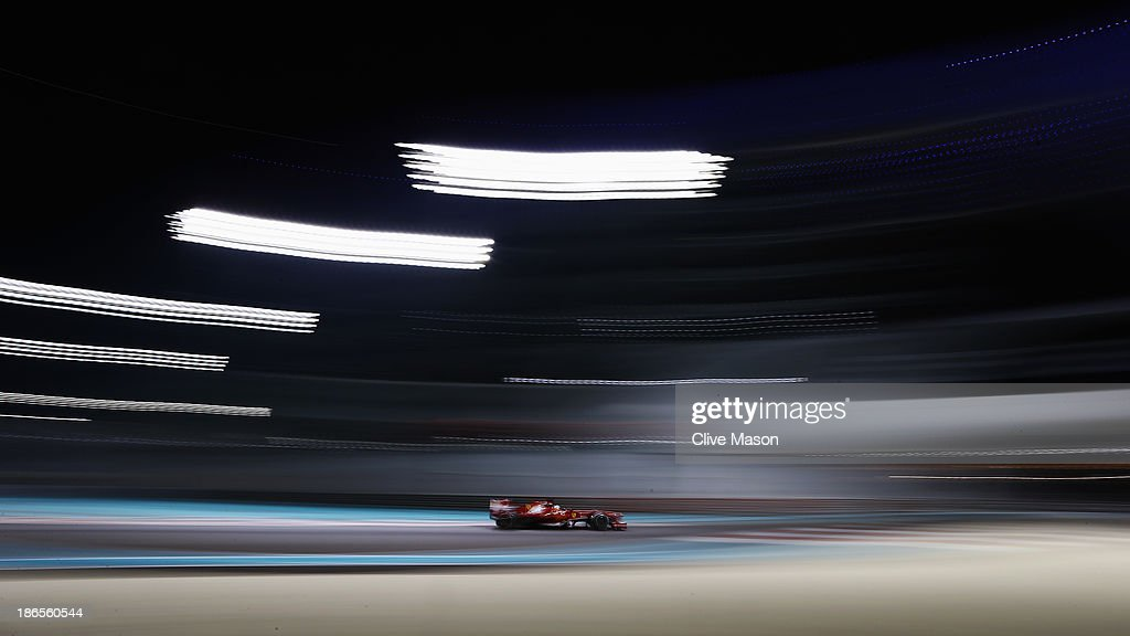 Fernando Alonso of Spain and Ferrari drives during practice for the Abu Dhabi Formula One Grand Prix at the Yas Marina Circuit on November 1, 2013 in Abu Dhabi, United Arab Emirates.