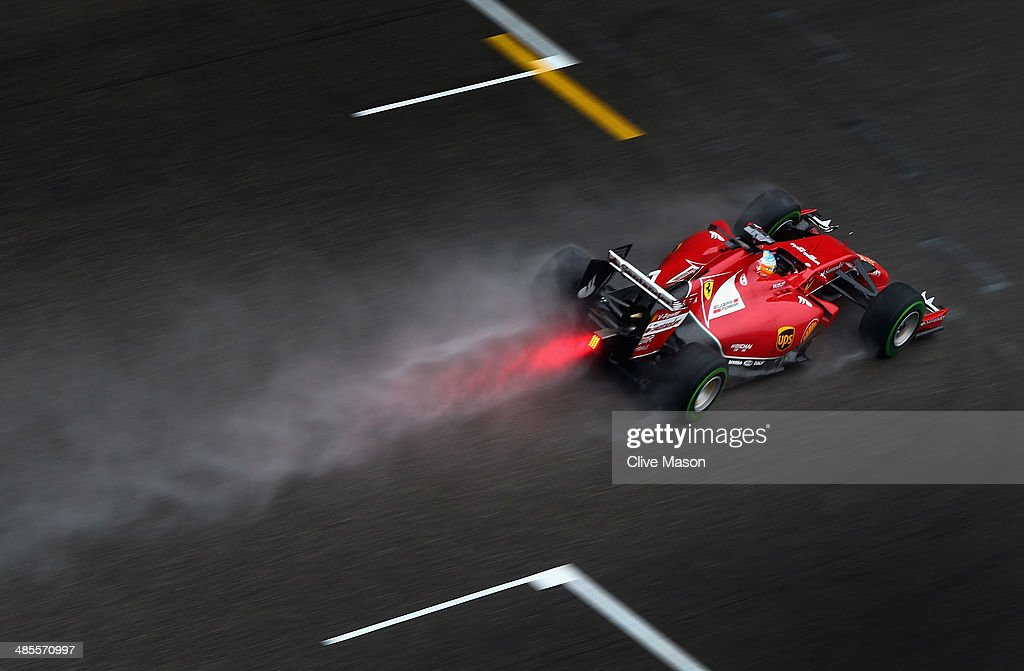 Fernando Alonso of Spain and Ferrari drives during qualifying ahead of the Chinese Formula One Grand Prix at the Shanghai International Circuit on...
