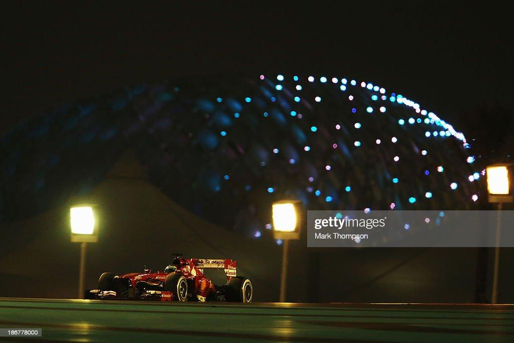 Fernando Alonso of Spain and Ferrari drives during the Abu Dhabi Formula One Grand Prix at the Yas Marina Circuit on November 3, 2013 in Abu Dhabi, United Arab Emirates.