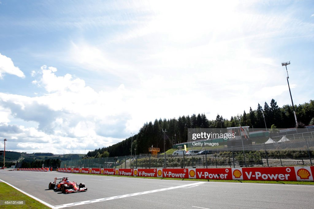 Fernando Alonso of Spain and Ferrari drives during the Belgian Grand Prix at Circuit de Spa-Francorchamps at Circuit de Spa-Francorchamps on August 24, 2014 in Spa, Belgium.