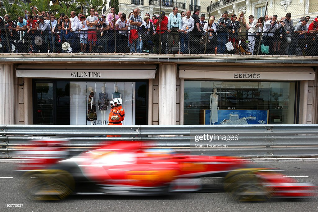 Fernando Alonso of Spain and Ferrari drives during the Monaco Formula One Grand Prix at Circuit de Monaco on May 25 2014 in MonteCarlo Monaco