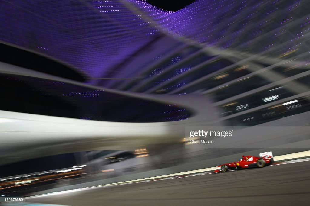 Fernando Alonso of Spain and Ferrari drives on his way to finishing second during the Abu Dhabi Formula One Grand Prix at the Yas Marina Circuit on November 13, 2011 in Abu Dhabi, United Arab Emirates.