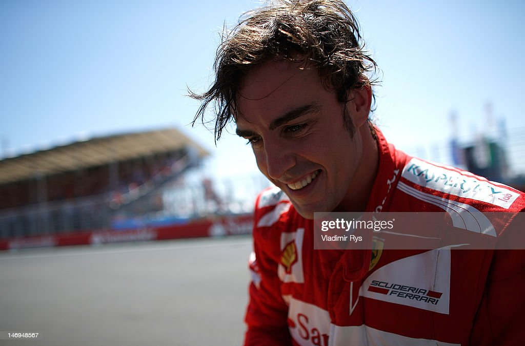 Fernando Alonso of Spain and Ferrari is pictured after winning the European Grand Prix at the Valencia Street Circuit on June 24, 2012 in Valencia, Spain.