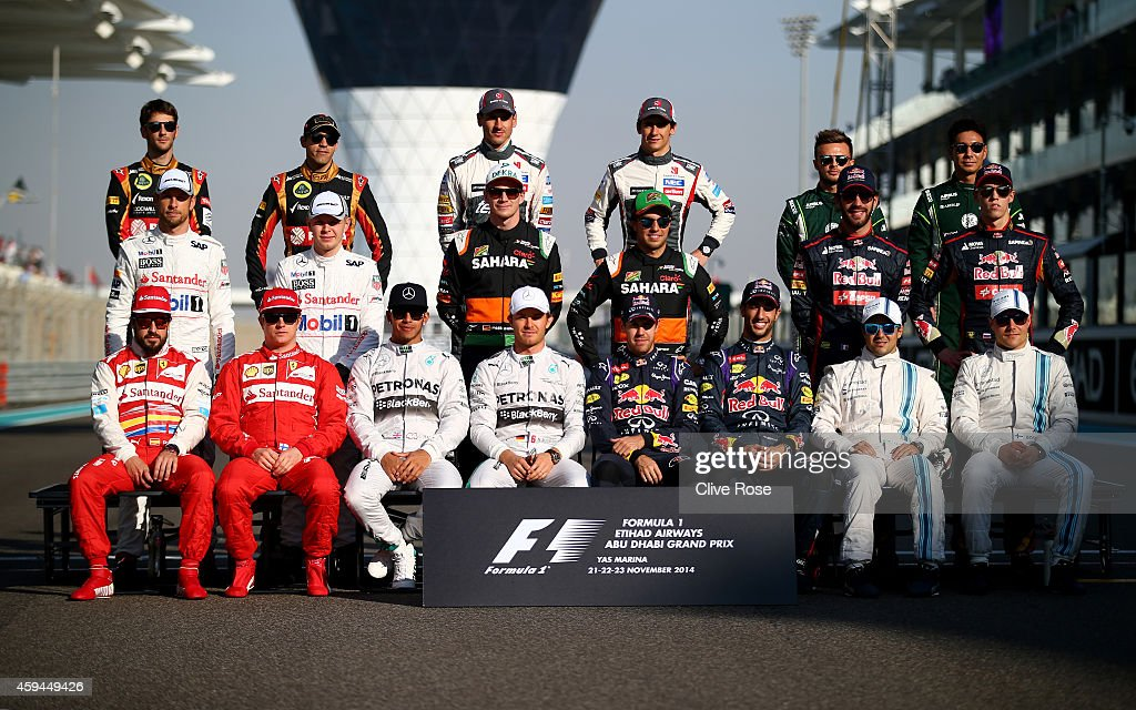 Fernando Alonso of Spain and Ferrari Kimi Raikkonen of Finland and Ferrari Lewis Hamilton of Great Britain and Mercedes GP Nico Rosberg of Germany...