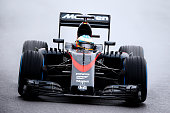 Fernando Alonso of Spain and McLaren Honda drives during practice for the Formula One Grand Prix of Japan at Suzuka Circuit on September 25 2015 in...
