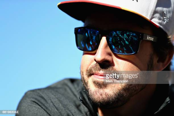 Fernando Alonso of Spain and McLaren Honda during previews for the Spanish Formula One Grand Prix at Circuit de Catalunya on May 11 2017 in Montmelo...