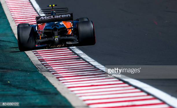 Fernando Alonso of Spain and McLaren Honda F1 Team driver goes during the qualification session at Pirelli Hungarian Formula 1 Grand Prix on Jul 29...