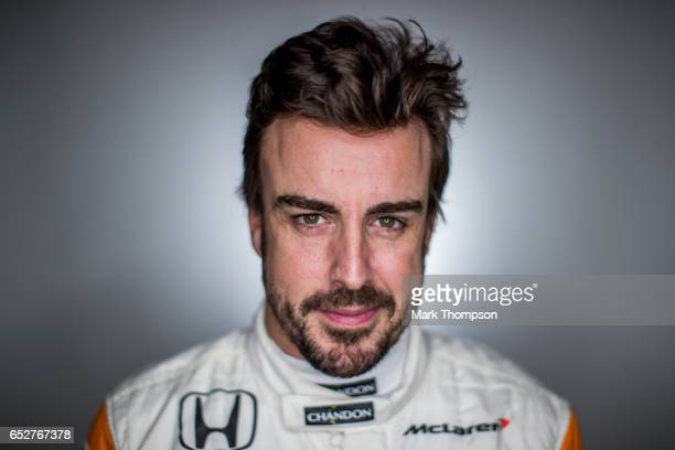 Fernando Alonso of Spain and McLaren Honda poses for a portrait during day three of Formula One winter testing at Circuit de Catalunya on March 9...