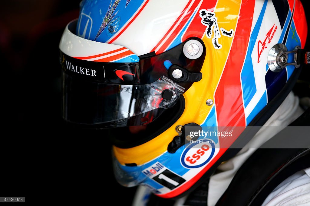 <a gi-track='captionPersonalityLinkClicked' href=/galleries/search?phrase=Fernando+Alonso+-+Race+Car+Driver&family=editorial&specificpeople=12323351 ng-click='$event.stopPropagation()'>Fernando Alonso</a> of Spain and McLaren Honda prepares in the garage during practice for the Formula One Grand Prix of Austria at Red Bull Ring on July 1, 2016 in Spielberg, Austria.