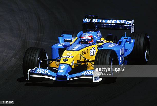 Fernando Alonso of Spain and Renault in action during the Hungarian Formula One Grand Prix held on August 24 2003 at the Hungaroring in Budapest...