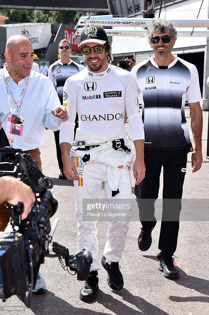 <a gi-track='captionPersonalityLinkClicked' href=/galleries/search?phrase=Fernando+Alonso+-+Race+Car+Driver&family=editorial&specificpeople=12323351 ng-click='$event.stopPropagation()'>Fernando Alonso</a> of Spain attends the Practice session of the F1 Grand Prix of Monaco on May 28, 2016 in Monte-Carlo, Monaco.
