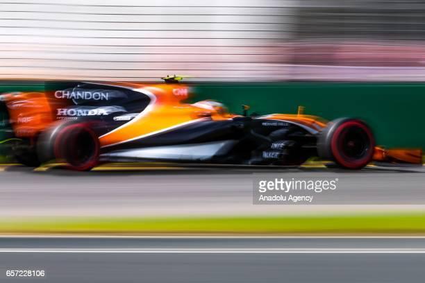 Fernando Alonso of Spain driving for McLaren Honda on Friday Free Practice during the 2017 Rolex Australian Formula 1 Grand Prix at Albert Park...