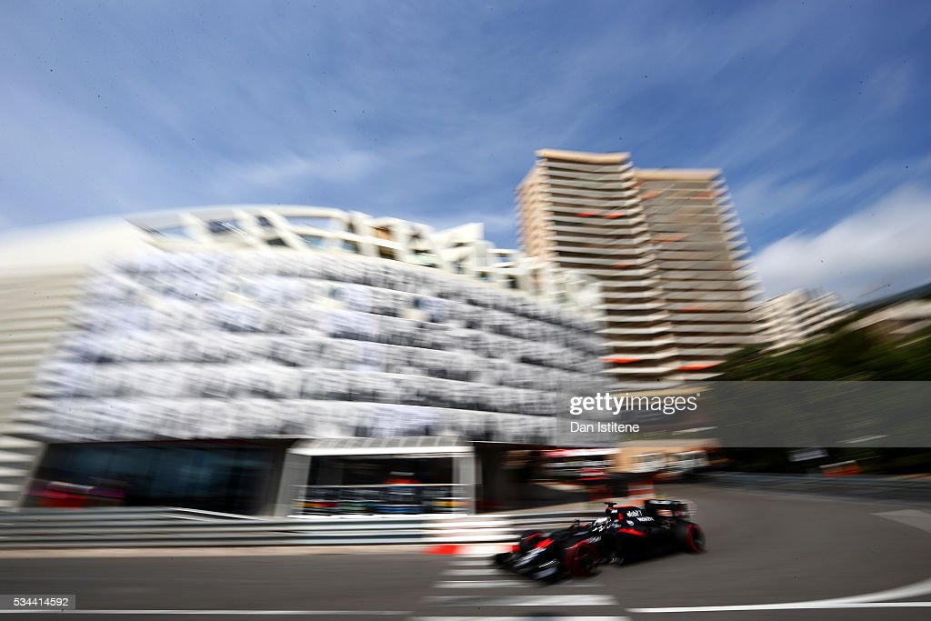 <a gi-track='captionPersonalityLinkClicked' href=/galleries/search?phrase=Fernando+Alonso+-+Race+Car+Driver&family=editorial&specificpeople=12323351 ng-click='$event.stopPropagation()'>Fernando Alonso</a> of Spain driving the (14) McLaren Honda Formula 1 Team McLaren MP4-31 Honda RA616H Hybrid turbo on track during practice for the Monaco Formula One Grand Prix at Circuit de Monaco on May 26, 2016 in Monte-Carlo, Monaco.