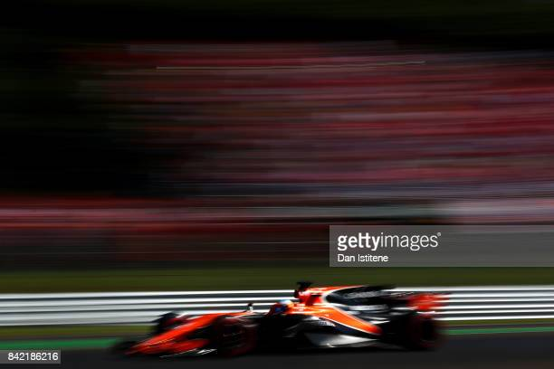 Fernando Alonso of Spain driving the McLaren Honda Formula 1 Team McLaren MCL32 on track during the Formula One Grand Prix of Italy at Autodromo di...