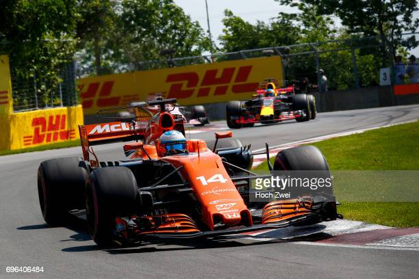 Fernando Alonso of Spain during the Canadian Formula One Grand Prix at Circuit GillesVilleneuve on June 11 2017 in Montreal Canada