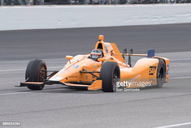 Fernando Alonso on the fifth day of practice for the 101st Indianapolis on May 19 at the Indianapolis Motor Speedway in Indianapolis Indiana