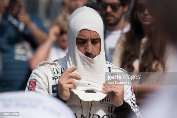 Fernando Alonso on the first day of qualifications for the 101st Indianapolis on May 20 at the Indianapolis Motor Speedway in Indianapolis Indiana