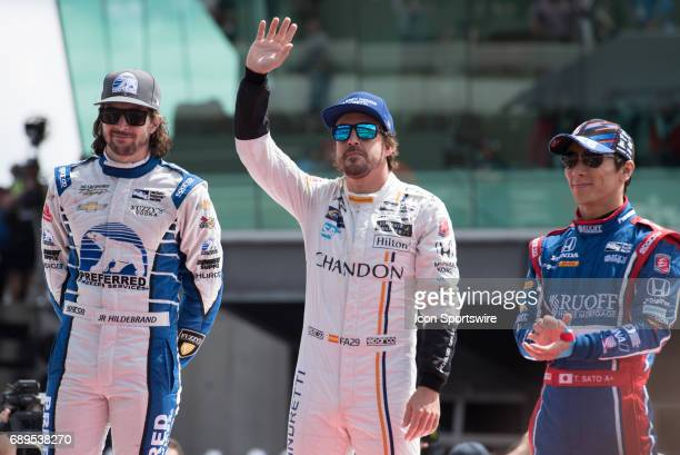 Fernando Alonso prior to the 101st Indianapolis 500 on May 28 at the Indianapolis Motor Speedway in Indianapolis Indiana