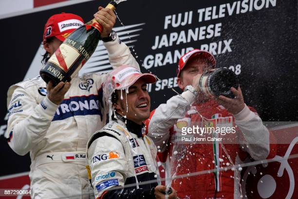 Fernando Alonso Robert Kubica Kimi Raikkonen Grand Prix of Japan Fuji Speedway 12 October 2008
