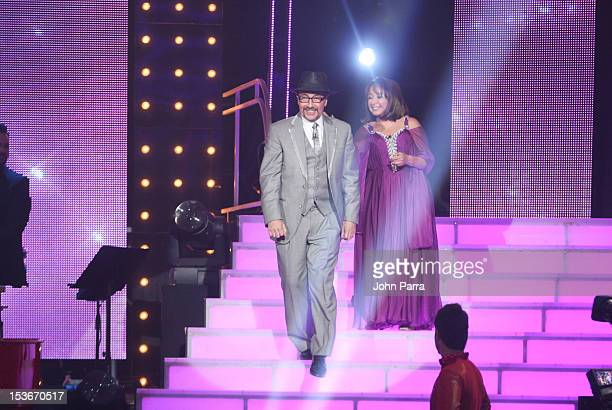 Fernando Arau and Maria Antonieta de las Nieves performs in Univisions Mira Quien Baila on October 6 2012 in Miami Florida