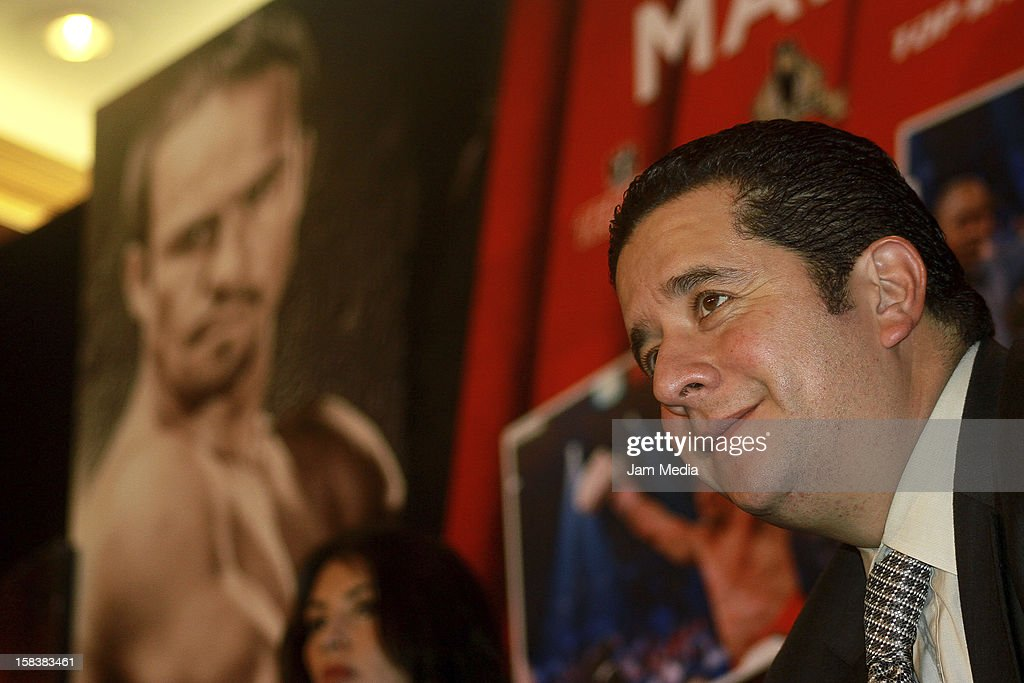 Fernando Beltran, during a press conference after the fight between Manny Pacquiao and Juan Manuel Marquez at Presidente Intercontinental Hotel on December 14, 2012 in Mexico City, Mexico.