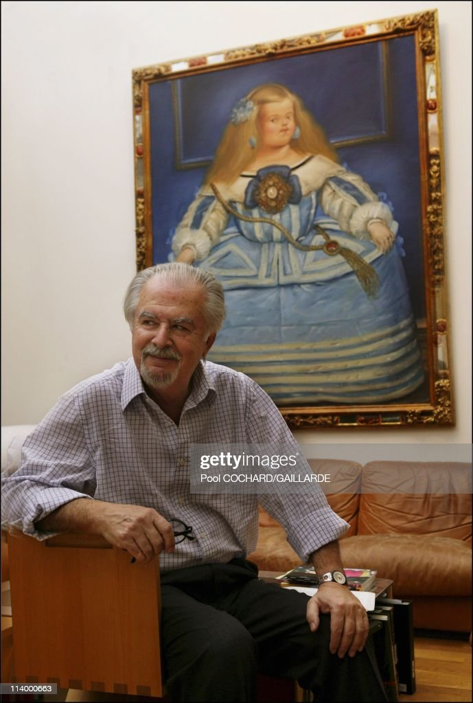 <a gi-track='captionPersonalityLinkClicked' href=/galleries/search?phrase=Fernando+Botero&family=editorial&specificpeople=593546 ng-click='$event.stopPropagation()'>Fernando Botero</a> showcases recent work in his Paris studio In Paris, France On November 07, 2003 .